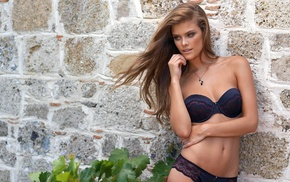 fashion model, light brown, girls, Nina Agdal