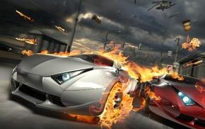 cars, flame, auto