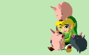 The Legend of Zelda, pigs, simple background