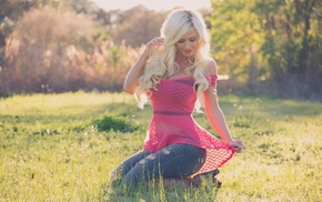 blonde, photo, fashion model, nature, people