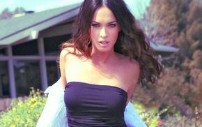 boobs, Megan Fox, bare shoulders, girl