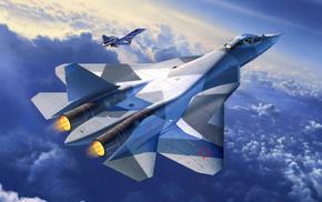 aircraft, jet fighter, art