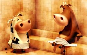 персонаж, прикольно, красиво, коровы, юмор, 3d