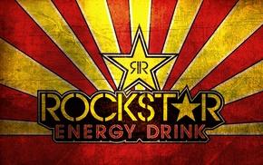 Rockstar drink, red, yellow