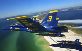 aircraft, sea, jets, fly, bay