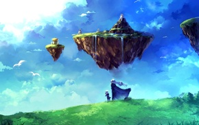 Chrono Trigger, floating island, clouds