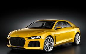 Audi, cars, yellow