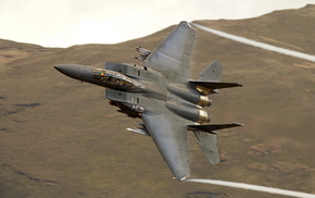 jet fighter, speed, mountain, airplane, fly