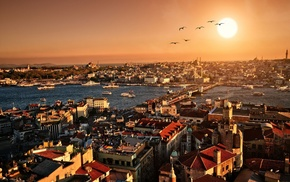 Istanbul, galata bridge, Turkey, river, cityscape, hali