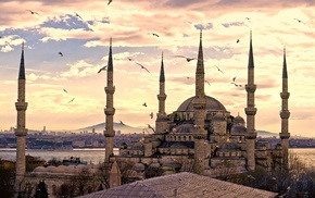 mosques, Turkey, Sultan Ahmed Mosque, Istanbul, Islam