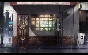 rain, artwork