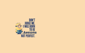minions, Despicable Me, quote, minimalism, cartoon