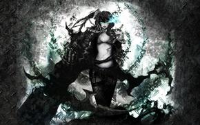 Black Rock Shooter, anime, anime girls, Strength Black Rock Shooter, weapon