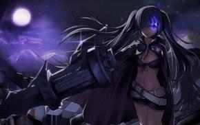 anime girls, Strength Black Rock Shooter, Black Rock Shooter, weapon, anime