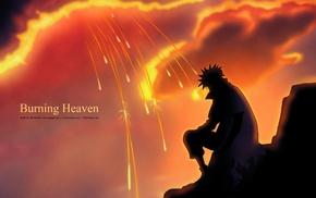 silhouette, Namikaze Minato, anime, manga, Naruto Shippuuden