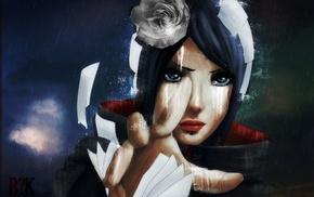 flower in hair, Konan, Naruto Shippuuden, paper, manga, anime