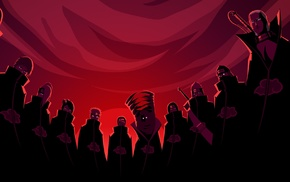 Kakuzu, anime, Hidan, Konan, Tobi, glowing eyes