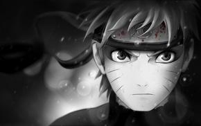 Uzumaki Naruto, anime, Naruto Shippuuden, manga, selective coloring