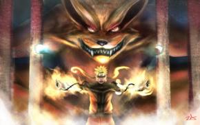 Naruto Shippuuden, Uzumaki Naruto, anime, manga, Kyuubi