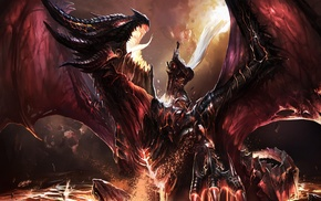 sword, World of Warcraft, Deathwing, dragon