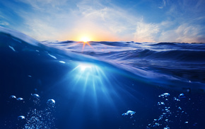 underwater, sky, photo, ocean, stunner