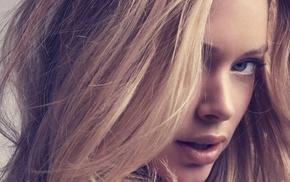 блондинка, голубые глаза, девушка