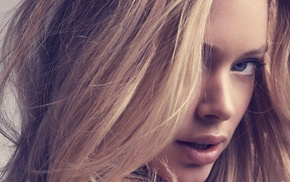 blonde, blue eyes, girl