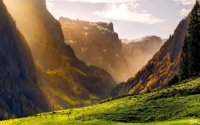 Switzerland, mountain, dawn, nature, morning