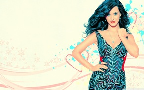blue eyes, singer, Katy Perry, photo manipulation, girl