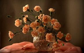 vase, flowers, still life
