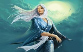 меч, кимоно, солнечный свет, произведение искусства, фантастическое исскуство