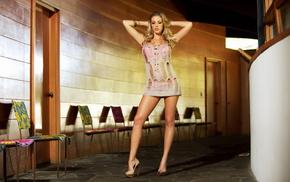 коридор, ножки, стулья, девушки, фото, блондинка