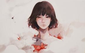 девушка, произведение искусства, лицо