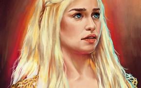 Game of Thrones, fan art, Daenerys Targaryen, digital art