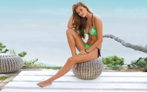 model, Nina Agdal, swimwear, girl, girls