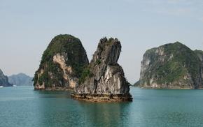 зелень, море, Вьетнам, деревья, красота, природа
