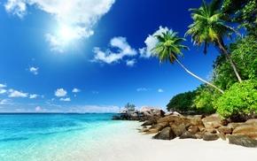 summer, nature, Sun, tropics, stones