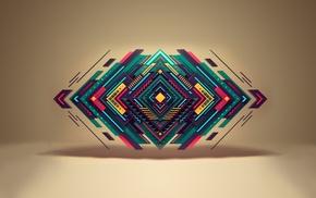 digital art, geometry, shapes
