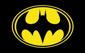 Batman, Batman logo, black