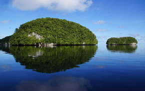 greenery, sky, water, island, nature