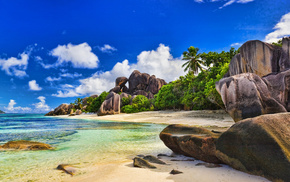 природа, Seychelles, индийский, небо, красивые, tropical