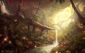 фантастическое исскуство, природа, красочно