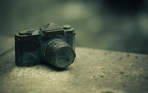Nikon, blurred, camera