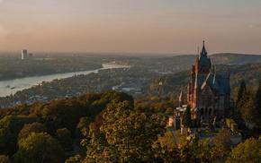 sky, city, greenery, stunner, Germany