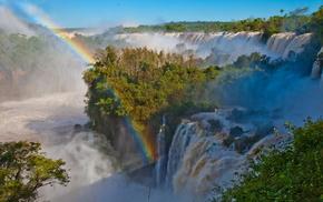 nature, rainbow, sky, greenery