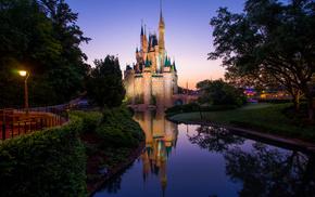 morning, castle, stunner