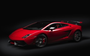 Lamborghini, red, cars, supercar