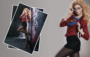 glasses, heels, superheroines, legs, CG render, artwork