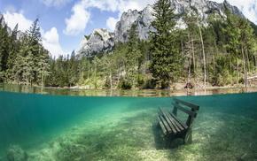 Австрия, природа, вода, лес, деревья, горы