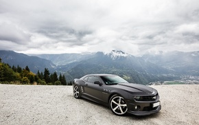 cars, sky, tuning, mountain, cloudy